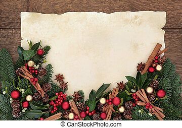 Christmas Spice Border - Christmas background border with...