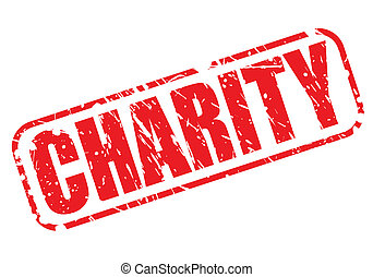 CHARITY red stamp text