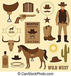 wild west icon, western wanted cowboy poster