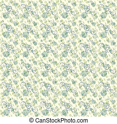 Retro dot and swirl background in blue and green
