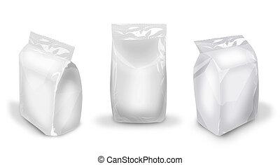package in three foreshortenings - blank 3D package image...