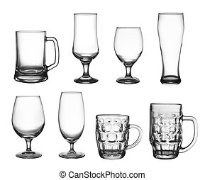 Set of beer cup glasses - Collection of beer cup glasses...