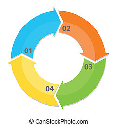 Circle Arrows Diagram - Circle arrows diagram infographic...