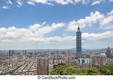 Taipei scenery - TAIPEI, TAIWAN - JUNE 24 2013. Famous...