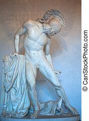 Achille, ferito, estatua