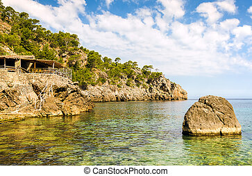 Cala Deia beach - The Cala Deia beach in Mallorca, Spain.
