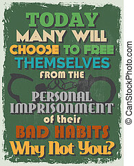 Retro Vintage Motivational Quote Poster Today Many Will...