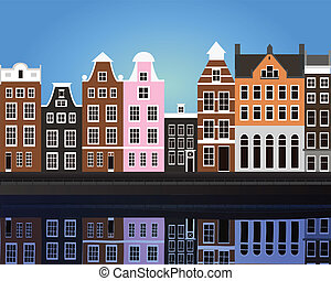 Amsterdam - vector illustration of Amsterdam eps 10