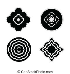 Rosettes set. Vector illustration