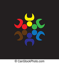 Team work and team spirit - concept vector graphic This...
