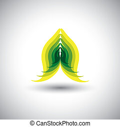 indian womans hand greeting posture of namaste - vector...