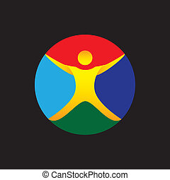 yoga, fitness, wellness, exercise icon - concept vector...
