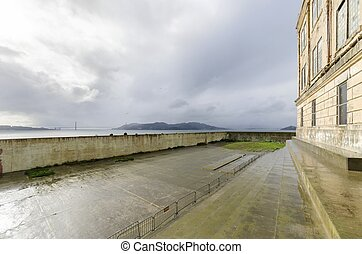 Alcatraz Recreation Yard, San Francisco, California - The...