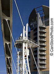 Modern Architecture - Salford Quays - Manchester - England -...
