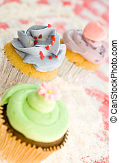 cupcakes selection - delicious cupcakes on wheat flour