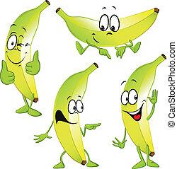 banana cartoon isolated on white background