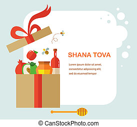 greeting card for Rosh Hashana, jewish holiday quot;Happy...