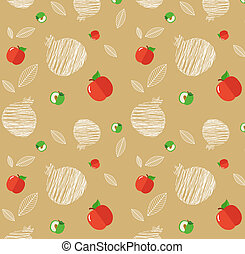 illustration of Rosh Hashanah background with pomegranates...