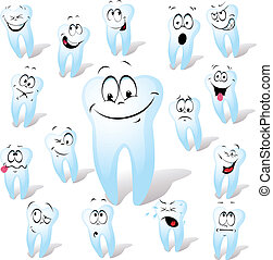 tooth  - white tooth with many expressions