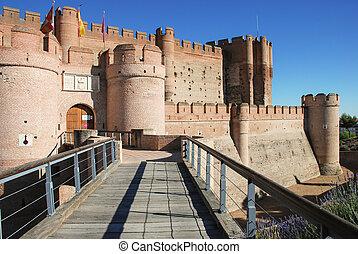 La Mota castle, XV century. Medina del Campo, Valldolid....