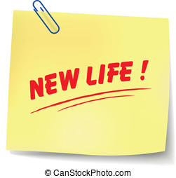 Vector new life message - Vector illustration of new life...