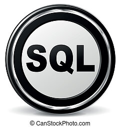 Vector sql icon - Vector illustration of sql metal icon on...