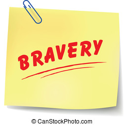 Vector bravery message - Vector illustration of bravery...