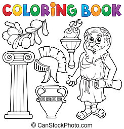 Coloring book Greek theme 1 - eps10 vector illustration.