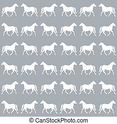 Horses background3 - Horses on gray background