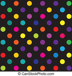 Polka dot pattern - Seamless retro inspired youthful polka...