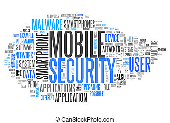 Word Cloud Mobile Security - Word Cloud with Mobile Security...