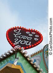 sign on a fairground