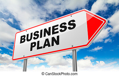 Business Plan on Red Road Sign.
