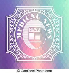 Pastels, Medisch, nieuws, Zeshoekig, achtergrond