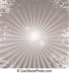 Vector grunge background with ray of light