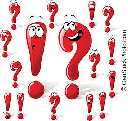question exclamation mark on white background