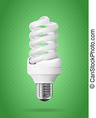 Energy saving light bulb Realistic vector illustration