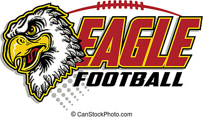 eagle football design with eagle mascot head