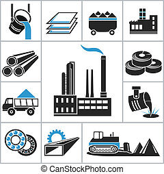 Heavy industry icons. For you design