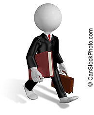 running lawyer - abstract illustration of a running lawyer...