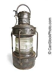 Old Lantern Isolated on White