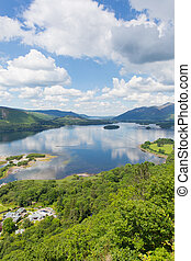Derwent Water elevated view - Derwent Water Lake District...