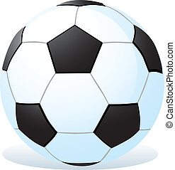 cartoon soccer ball on white background