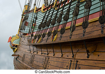Old Sailing Ship - Part of an old sailing ship