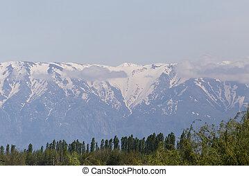 snowy peaks of the Tien Shan