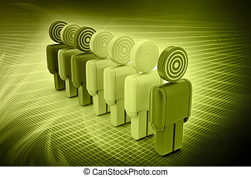 3d targeted people