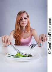 Little breakfast for thin girl