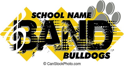 bulldog band design