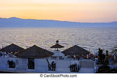 Sunset in Reggio Calabria - Spectacular sunset colors on a...