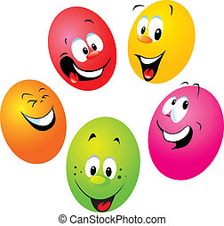 happy easter eggs on white background